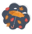 cool single weather opened vector image