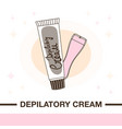 cream for depilation and spatula vector image