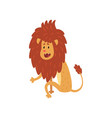 cute lion cub cartoon character sitting on the vector image