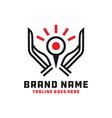 eye protection logo design vector image vector image