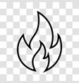 fire icon on transparent background vector image vector image