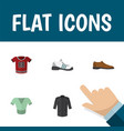 flat icon garment set of sneakers male footware vector image vector image