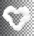 Fluffy Cloud Shape Heart Love vector image