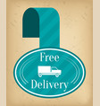 free delivery tag fast shipping holiday offer vector image