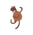 funny happy sheep character jumping cartoon vector image vector image
