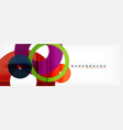 geomtric modern backgrounds rings abstract vector image vector image