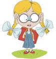 ginger girl vector image vector image