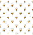 glass of scotch or whiskey pattern vector image vector image