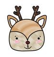 grated happy deer head wild animal vector image vector image