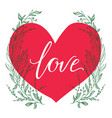 greeting card composition with love vector image