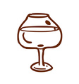 Hand Drawn Glass of Wine vector image