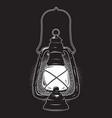 hand drawn grunge sketch vintage oil lantern vector image