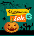happy halloween sale presentation concept vector image