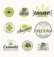 hashish rastaman hemp cannabis logos and vector image vector image