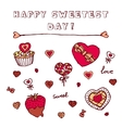 Heart shaped icons for Happy Sweetest Day vector image vector image