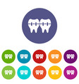 implant icon simple style vector image vector image