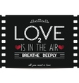 Just Valentines day card in retro movie style vector image vector image