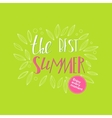 Lettering summer quote banner vector image vector image