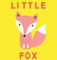 little fox slogan animal for vector image vector image