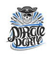 logo for pirate party vector image vector image