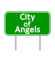 los angeles green road sign