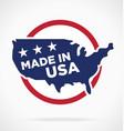 made in america symbol logo label vector image vector image