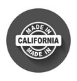 made in california vector image vector image