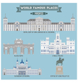 Madrid famous place vector image