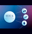 medical concept background with icons vector image