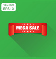 mega sale ribbon icon business concept discount vector image