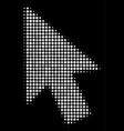 mouse cursor halftone icon vector image