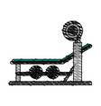 olympic incline bench vector image