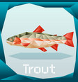 origami trout banner vector image vector image