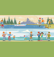outdoor activity horizontal banners vector image vector image