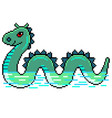 pixel nessie loch ness monster detailed isolated vector image vector image