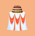 restaurant table decorated for wedding celebration vector image vector image