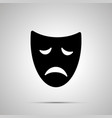 sad drama mask silhouette simple icon vector image