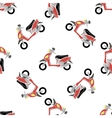Seamless Bike Pattern vector image