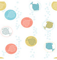 seamless pattern with cute hand drawn fishes and vector image