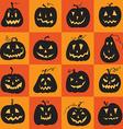 set a scary halloween pumpkin vector image