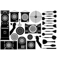 Set of different dartboards vector image vector image