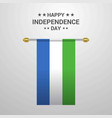 sierra leone independence day hanging flag vector image vector image