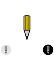 Simple pencil icon Black stroke style vector image vector image