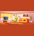 spring interior living room vector image vector image