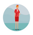 stewardess job worker vector image vector image