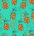 Stylish seamless pattern of pineapples on vector image vector image