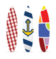 surfboard set with various textured vector image vector image