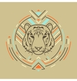 Tiger head in frame vector image vector image