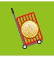 trolley shop juicy passionfruit vector image