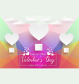 valentines day sale colorful low poly paper art vector image vector image